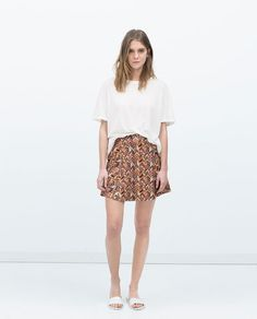 ZARA - WOMAN - JACQUARD MINI SKIRT