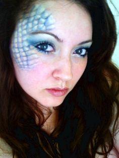 Mermaid makeup by Jessica J Miller, via Flickr