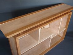 Narrow Bookcase Display Console or by MokuzaiFurniture on Etsy