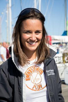 Pippa Middleton in Amanda Wakeley Ladies Day Charity T-Shirt at Aberdeen Asset Management Cowes Week.