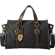 New smexy bag - best workplace farewell present ever! Fossil Emory Satchel in black. It's my wonderful :)