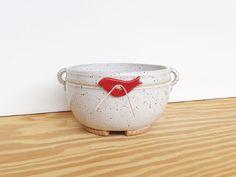 Stoneware Planter Pot in Glossy White Glaze  by dorothydomingo