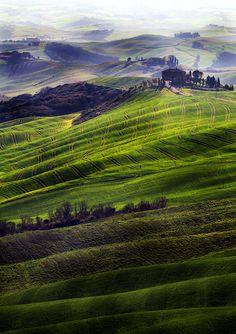 light and hills