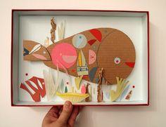 Cardboard crafts, animal art projects, photo boxes, art activities for kids Art Activities For Kids, Preschool Crafts, Cardboard Crafts, Paper Crafts, Diy For Kids, Crafts For Kids, Animal Art Projects, Kids Art Class, Recycled Art