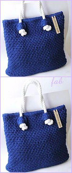 Crochet T-Shirt Yarn Tote Bag Free Pattern Video