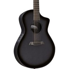 Charcoal Tribal Dragon Acoustic Guitar Black Carbon Pickguard