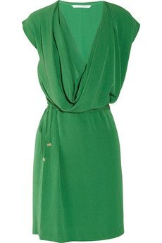 DvF New Reara draped silk-crepe dress. One day I WILL own one of her dresses...