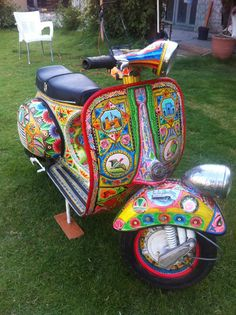 Classic Hand Painted Jungle truck art Vespa Scooter Italian Restored 150cc