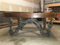 Anchor Chain Coffee Table by PieceofWorkLLC on Etsy Anchor Chain, Coffee, Trending Outfits, Unique Jewelry, Table, Furniture, Etsy, Kaffee, Cup Of Coffee