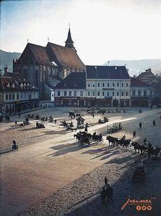 Imagini alb-negru din Brașovul secolului XIX au fost readuse la viață prin colorizare digitală de către Jecinci în colaborare cu IRCCU – Brasov.net Brasov Romania, Old Pictures, Folk, Mansions, House Styles, Instagram, Travel, Dress, Bucharest