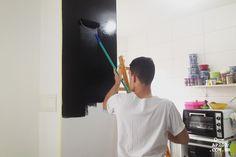 DIY - Como pintar parede de quadro negro com tinta lousa
