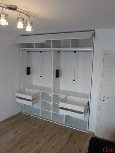 Dressing alb finisaj ST22 cu lifturi si sertare Design Case, Decoration, Closet, Home Decor, Decor, Armoire, Decoration Home, Room Decor, Closets