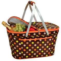 Julia Dot Collapsible Insulated Basket