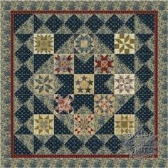 The Generals Wives - NEW Quilt Kits, NEW Block of the Month quilts, Free quilt patterns - Quilters Quarters - YOUR Online Home for New Quilt Kits, New Block of Month and ALL Quilting Supplies - Kansas' Premier Quilting Store Old Quilts, Antique Quilts, Star Quilts, Mini Quilts, Vintage Quilts, Quilt Blocks, Make Do, Primitive Quilts, Civil War Quilts