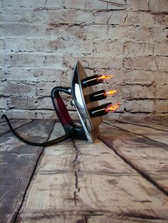 Table Lamp - Upcycled - Vintage Electric Iron - Light