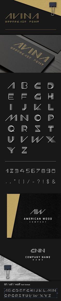 #Avina #Uppercase #Font - Futuristic Decorative