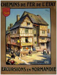 Excursions en Normandie  by ALO  c.1920