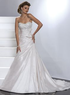 Lace and Bordeaux Taffeta Asymmetrically Strapless Scoop Neckline A-line Wedding Dress
