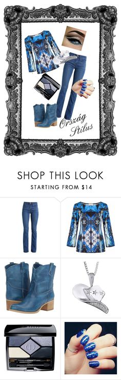 """Coutry Style 1."" by gabriella-bagdine-meszaros on Polyvore featuring Levi's, Massimo Matteo and Christian Dior"
