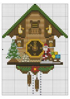 Furnishings cuckoo clock cross stitch.