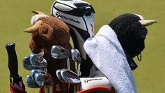 Sergio Garcia's winning TaylorMade golf bag of clubs at the Wyndham Championship