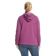 Women's Plus Size Fleece Hoodie Soho Grape 1X - Mossimo Supply Co.