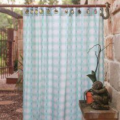 SANTA CRUZ shower curtain – bunglo by shay spaniola