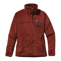 Patagonia Women\'s Re-Tool Snap-T\u00AE Fleece Pullover - Rusted Iron - Dark Currant X-Dye RDCX (there is also a true red that I don't like - I like this darker red though!)  Small