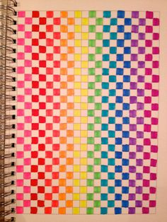 easy graph paper art patterns | Pixel Art Patterns and Drawings Made with Neon Rainbow Markers | Kenny ...