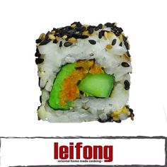Green Roll  (Aguacate, pepino y zanahoria)  #leifong #sushi  Tel. 2563-7541