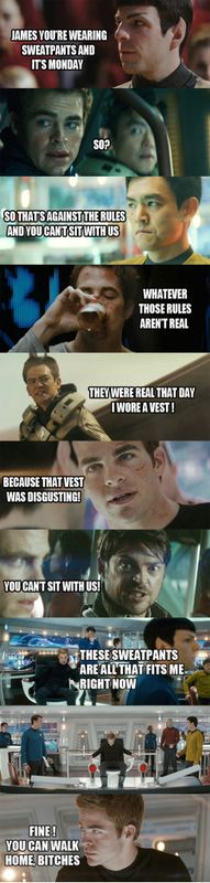 Star Trek/Mean Girls mashup -- two great tastes that go great together.