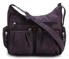Scarleton Multi Pocket Shoulder Bag H1407 Purple New #Scarleton #Purple