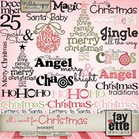 All I Want for Christmas WordArt by Fayette Designs