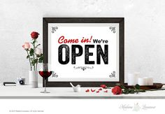OPEN signs printable sign come in we're open by MadameLevasseur