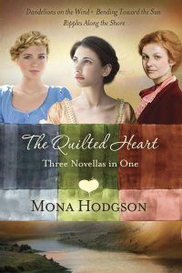 The Quilted Heart-3 novellas in one book. Historical fiction, romance, Civil War era, family, westward movement