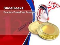 Gold Medals Sports PowerPoint Template 0610  Presentation Themes and Graphics Slide01