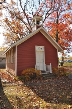 Deerfield, IL: This replica of a one-room schoolhouse (ca 1890) was constructed at the Deerfield Historic Village and is maintained by the Deerfield Area Historical Society.