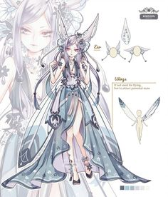 Adoptables by Rurucha on DeviantArt Fantasy Character Design, Character Design Inspiration, Character Art, Anime Princess, Anime Dress, Drawing Clothes, Anime Outfits, Anime Art Girl, Anime Style