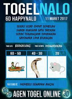 Rumus 3D Togel Wap Online Kupon HappyNalo Jakarta 11 Maret 2017