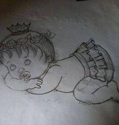 Tatitando Arte: risco para fraldas, meninas princesas