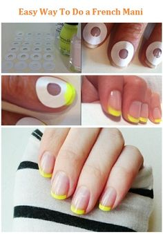 Easy Way To Do a French Manicure