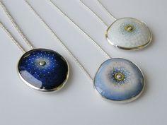 Ruth Ball Materials: enamel on silver / gold cloisonne wires / diamonds Techniques: Cloisonne / en plein enamel