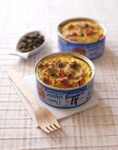 Clafoutis de thon, tomates et curry