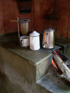 Cozinha Caipira - Coador e bule