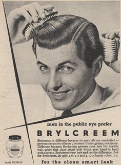 Brylcreem or Margarine? Retro Advertising, Vintage Advertisements, Vintage Ads, Vintage Posters, Barber Poster, Brylcreem, Female Poets, Barber Shop Decor, Nostalgic Images