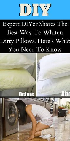 Everyone regularly washes their sheets and pillow cases but rarely do they wash their pillows. Which is unfortunate because they are absolutely filthy and disgusting. #DIYer #Whiten #Dirty #Pillows Girly Things, Good Things, Bridal Heels, Whitening, Need To Know, Everything, Outfit, Celebs, Entertaining