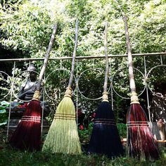 Jumping Broom, Wedding Broom in your choice of Natural, Black, Rust or Mixed Broomcorn - African Wedding Broom - Handfasting Broom Broom Corn, Witch Broom, Best Broom, Wedding Broom, Jumping The Broom, Witchcraft Supplies, Shaker Style Kitchens, Natural Kitchen, Handmade Kitchens