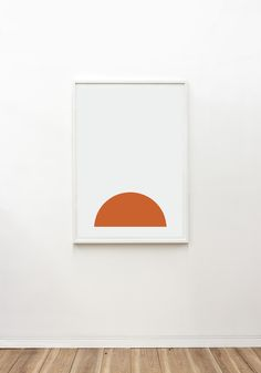 The Orange Half Moon. Limited Edition artwork, framed and ready to hang, available online now at www.theartworkstylist.com.au