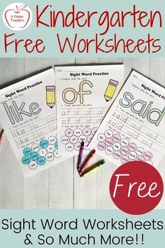 Sight Word Practice, Sight Word Games, Sight Word Activities, Sight Words, Kindergarten Morning Work, Kindergarten Literacy, Literacy Centers, Kindergarten Addition Worksheets, Sight Word Worksheets