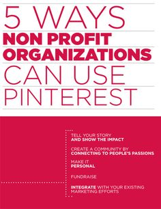 5 Ways Non Profit Organizations Can Use Pinterest #infographic